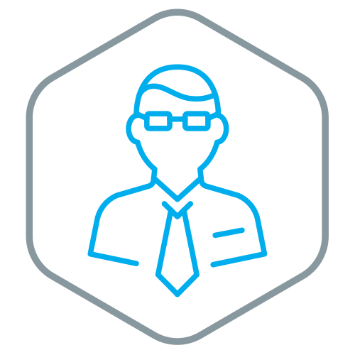 Icon for man in glasses
