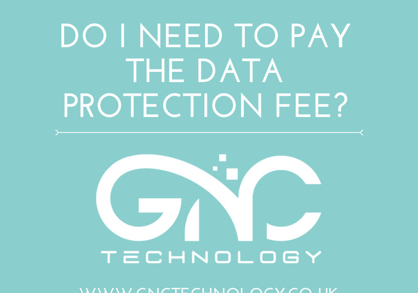 Do I have to pay the Data Protection fee
