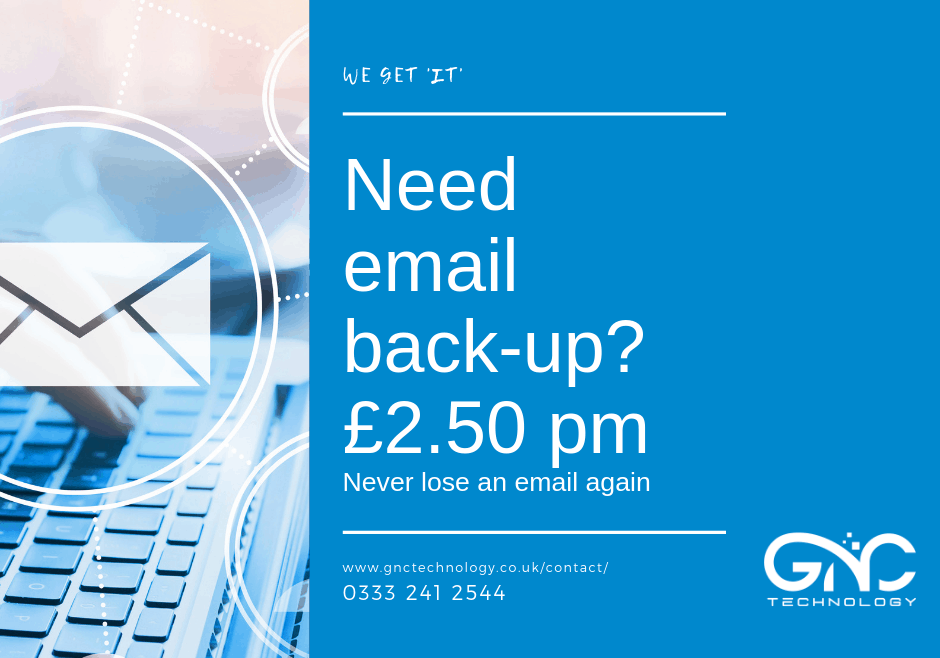 poster for email back up for £2.50 pm