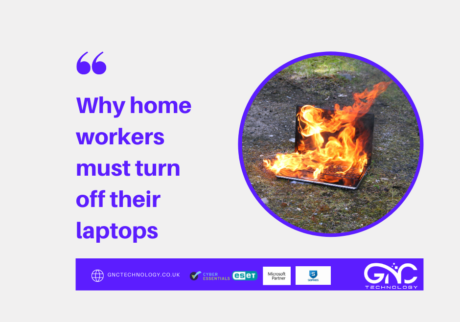 why home workers need to turn off their laptops